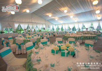 Marquee tents and furniture