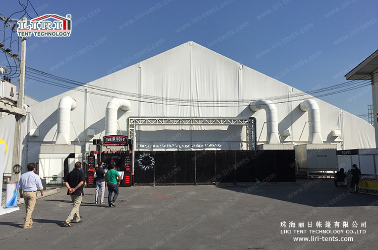 curve tent for outdoor event