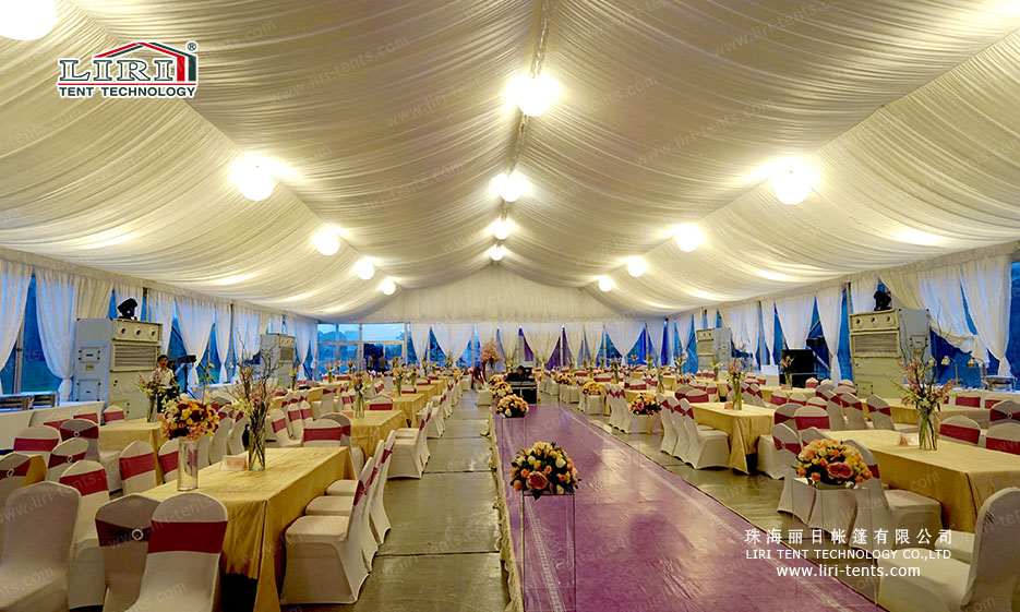 outdoor wedding tent decoration