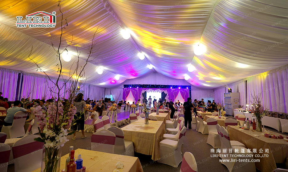 luxury outdoor wedding tent